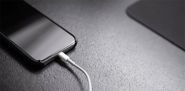 phone charging with cable