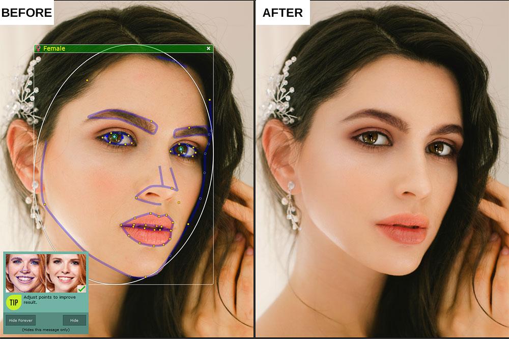 Portrait Pro 19 review Standard Enhancement close-up