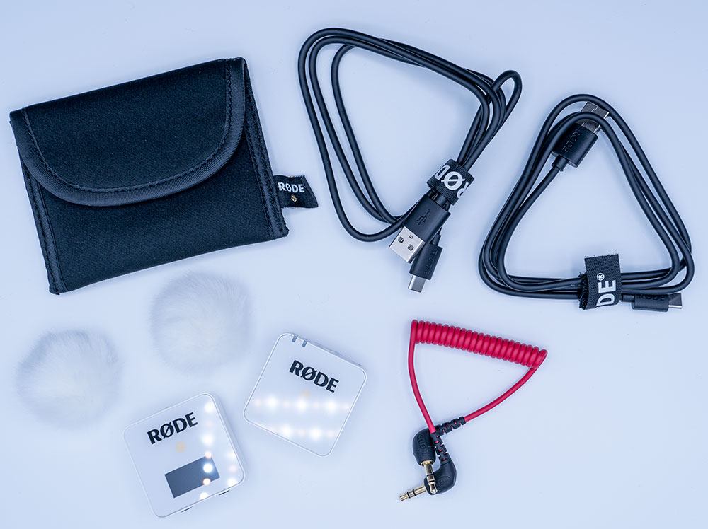 rode wireless go package contents includes