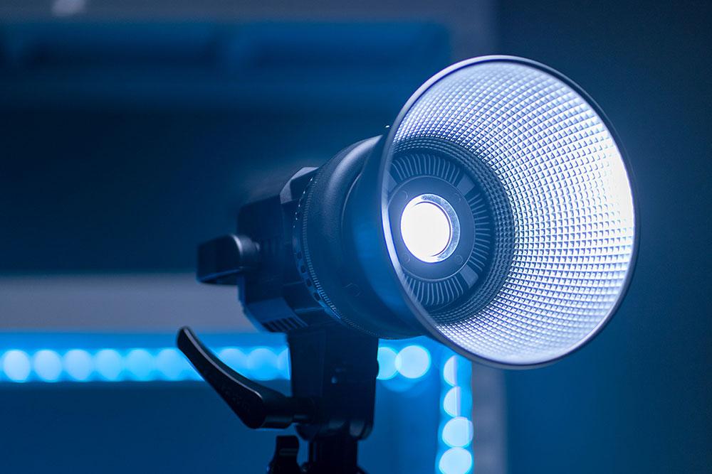 GVM 80W Video Light Powered At 10% Brightness